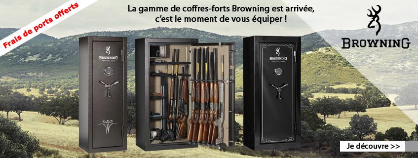 La gamme de coffres et d'armoires fortes Browning