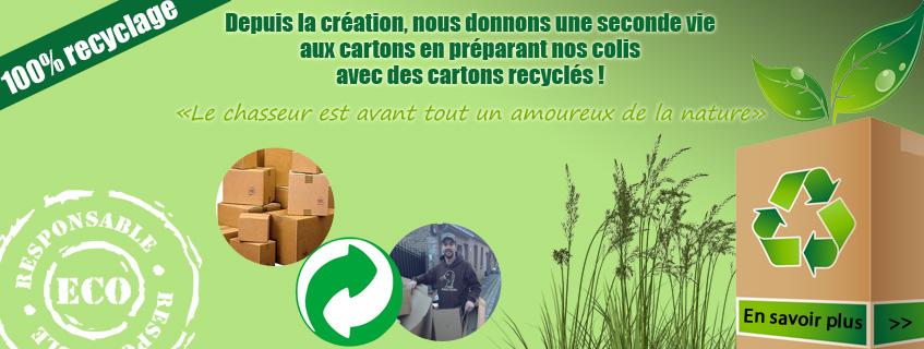 Côté Chasse, une société éco-responsable qui recycle les cartons !