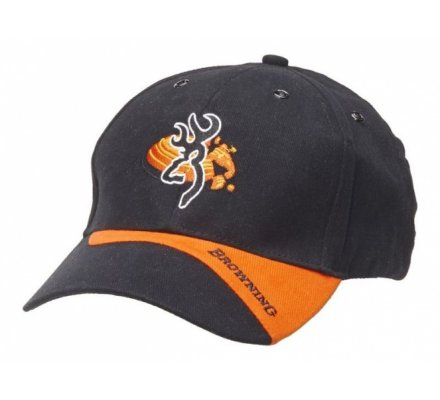 CASQUETTE BROWNING CLAYBUSTER NOIRE/ORANGE