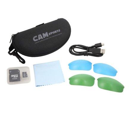 Lunettes caméra CAMSPORTS Coach noire