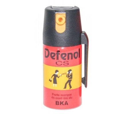 Aérosol de défense gaz CS Defenol
