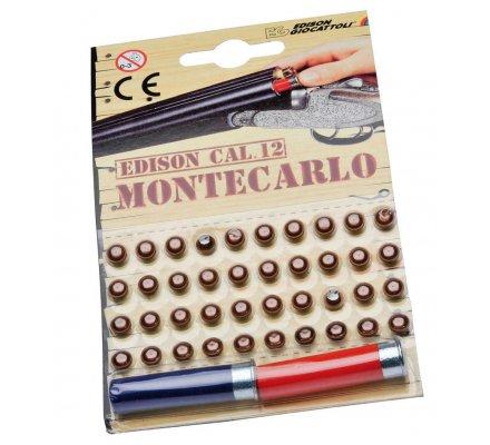 Lot 40 amorces et 2 cartouches pour fusil enfant Edison Montecarlo