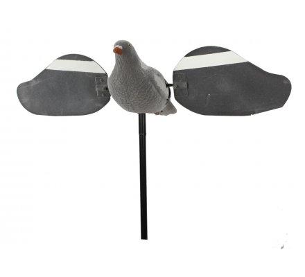 Appelant pigeon à ailes tournantes électrique