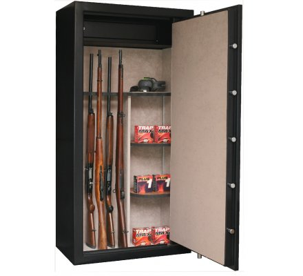 Armoire 23 armes avec lunette coffre intérieur et étagères amovibles INFAC SAFE