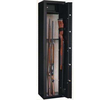 Armoire 6 armes avec lunette + 1 dans la porte et coffre intérieur INFAC SAFE