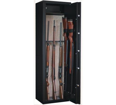 Armoire 8 armes avec lunette + 2 dans la porte et coffre intérieur INFAC SAFE