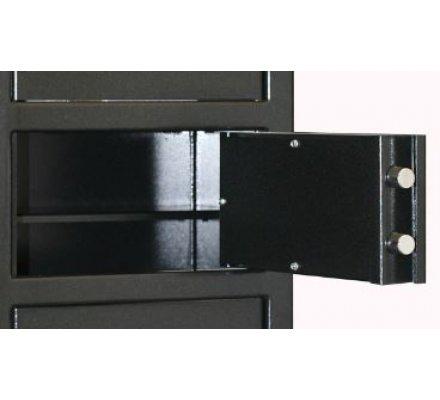 Armoire 6 compartiments clés différentes avec étagères INFAC SAFE
