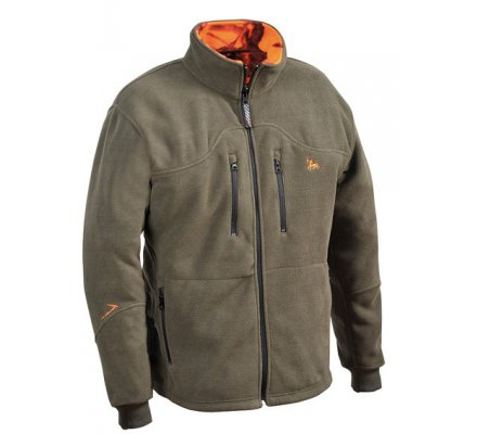 Blouson polaire réversible kaki - GhostCamo orange ProHunt