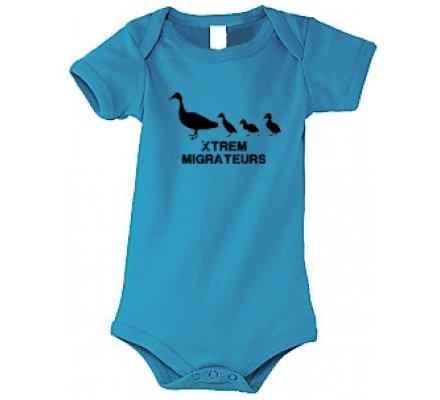 Body bébé bleu Canetons XTREM MIGRATEURS