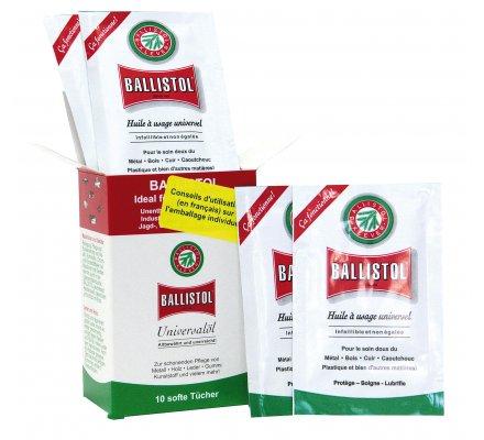 Boîte de 10 lingettes d'huile universelle Ballistol