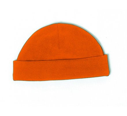 Bonnet polaire uni-Orange fluo