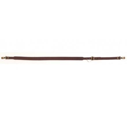 Bretelle pour fusil cuir cousu mousquetons
