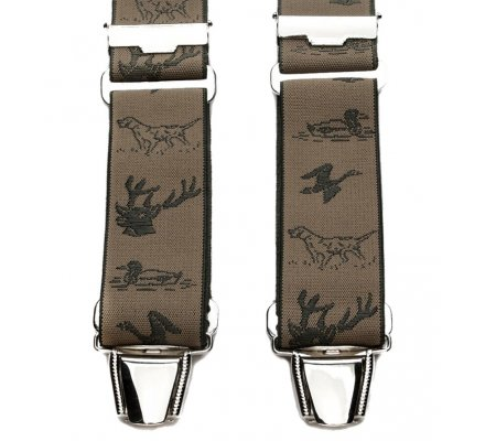 Bretelle harnais BICLIP bronze motif chasse