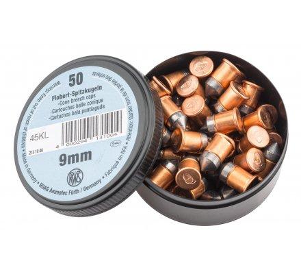 Cartouche petit calibre 9mm Flobert à balle conique RWS