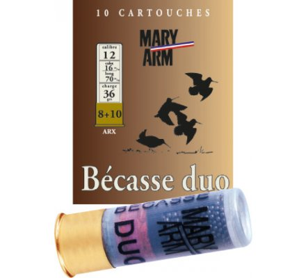 Cartouche Bécasse Duo 36 cal 12 Mary Arm