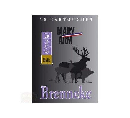 Cartouche Brenneke 24 grs cal 20 Mary Arm