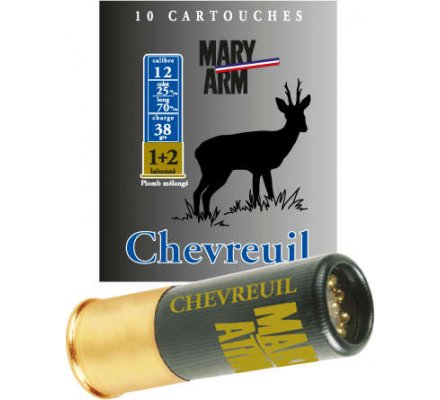 Cartouche CHEVREUIL 38 cal 12 Mary Arm