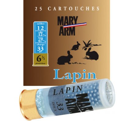 Cartouche LAPIN 33 cal 12 Mary Arm