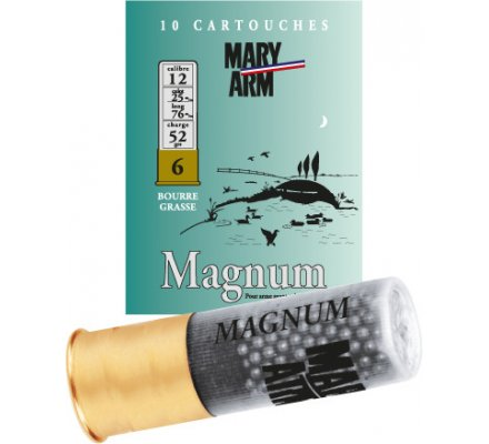 Cartouche Magnum 52  bourre grasse cal 12 Mary Arm