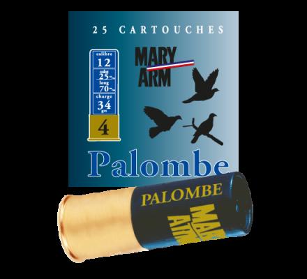 Cartouche PALOMBE 34 cal 12 Mary Arm