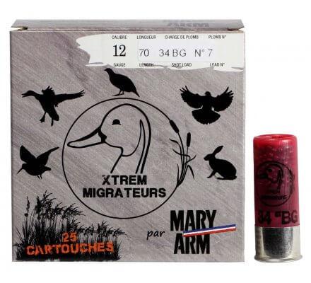 Cartouche Xtrem Migrateurs 34 cal 12 Mary Arm