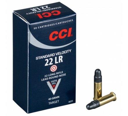 Cartouches à balles CCI Standard Velocity pour carabine 22 LR