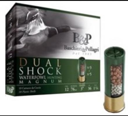 Cartouches B&P DUAL SHOCK WATERFOWL 36g cal 12/76 Pb 5+3 cuivré
