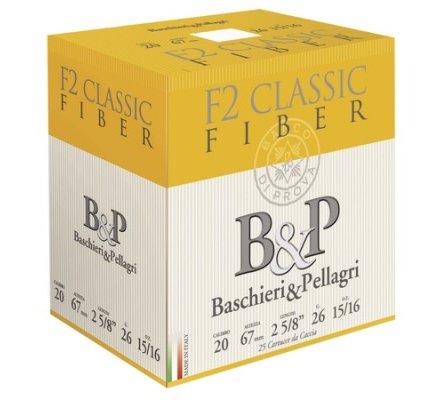 Cartouches B&P F2 Classic Fiber 26gr 20/67
