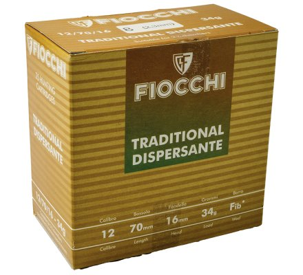 Cartouches Fiocchi Traditional dispersante 34 BG cal 12