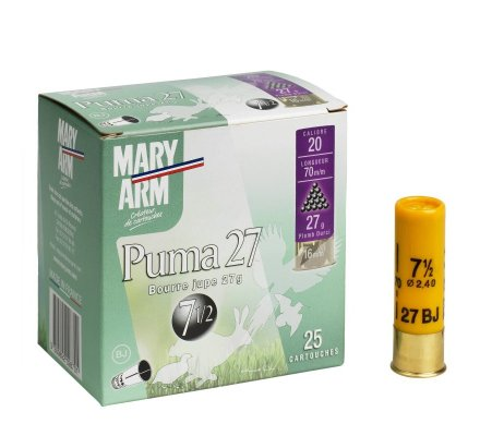Cartouche PUMA 27 cal 20 Mary Arm