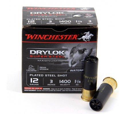 Cartouches Winchester Drylok Super Steel Magnum cal 12