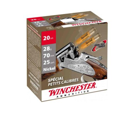 Cartouches Winchester special petits calibres 28 BG cal 20