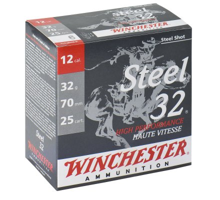 Cartouches Winchester steel 32 BJ haute performance cal 12