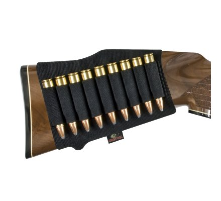 Cartouchière de crosse noire pour balles