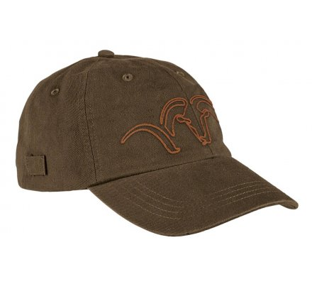 Casquette Argali brodée orange - marron BLASER
