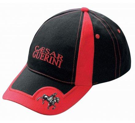 Casquette noire et rouge Caesar Guerini