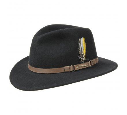Chapeau Vitafeld Noir avec plume STETSON