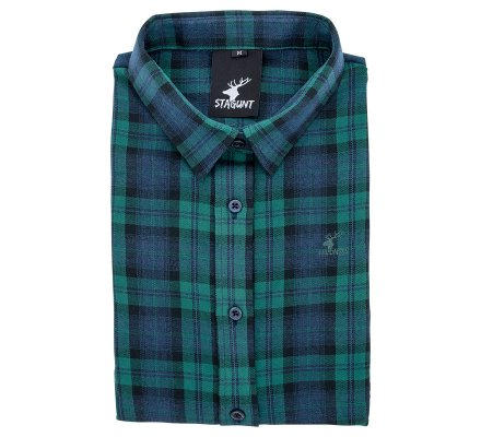 Chemise femme à carreaux verte English Shirt Stagunt