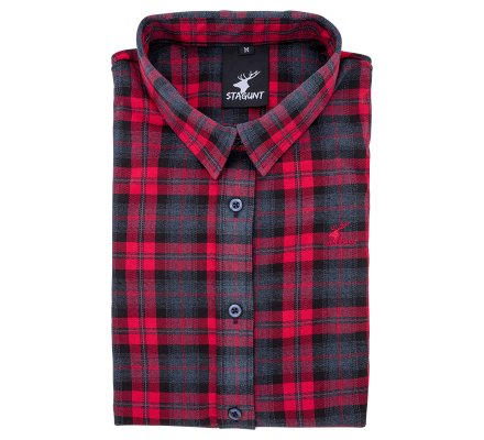 Chemise femme à carreaux rouge English Shirt Stagunt