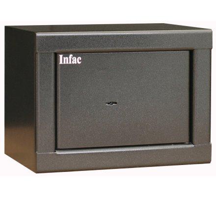 Coffre 3 armes de poing et objets divers Infac Safe