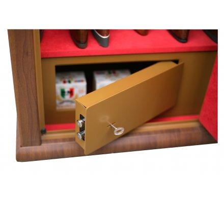 Armoire vitrine bois 8 armes avec lunette et coffre intérieur Infac Safe