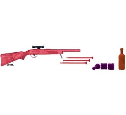 Coffret fusil à fléchettes avec bouteilles pour enfant