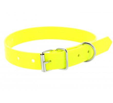 Collier jaune fluo en PVC