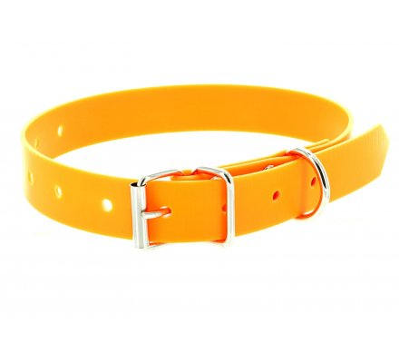 Collier PVC orange fluo