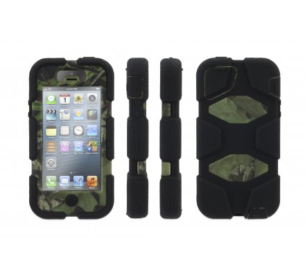 Coque iPhone 5/5S/SE Griffin Survivor noire / camo Mossy Oak