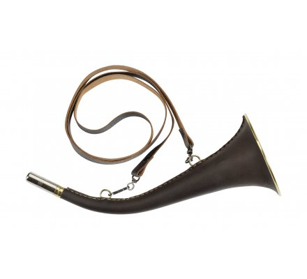 Corne d'appel ronde gainée cuir 31 cm Axel Club Interchasse
