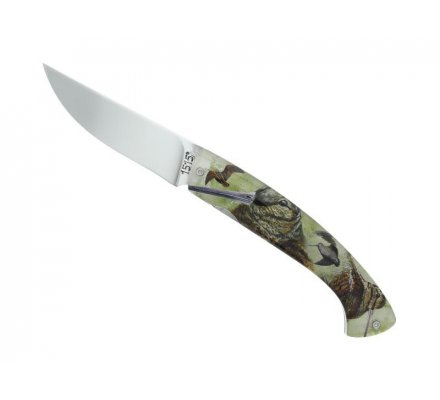 Couteau ALSAC Bécasse et Canard acier