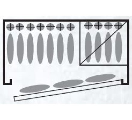 Armoire 11 armes avec lunette et 3 dans la porte avec coffre intérieur et étagères amovibles Infac Safe