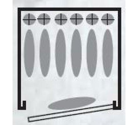 Armoire 6 armes avec lunette + 1 dans la porte avec coffre intérieur couleur bois INFAC SAFE