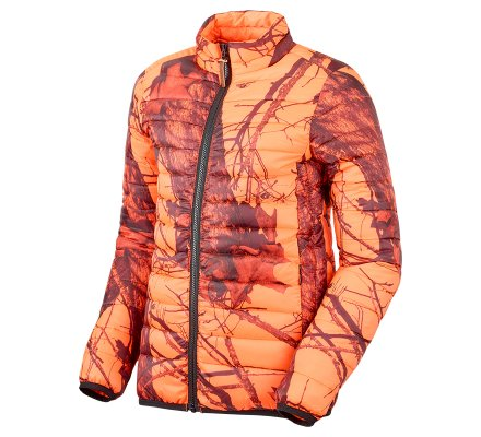 Doudoune de chasse enfant camo orange fluo Blaze Stagunt